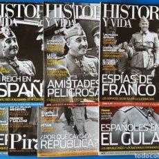 Collectionnisme de Magazine Historia y Vida: LOTE REVISTA HISTORIA Y VIDA N° 471, 493, 498, 510, 511, 527 Y 530 (FRANCO,GUERRA CIVIL). Lote 115734115
