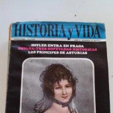 Coleccionismo de Revista Historia y Vida: TERESA CABARRÚS - HITLER EN PRAGA-PRÍNCIPES DE ASTURIAS-HISTORIA Y VIDA Nº 12. Lote 116684563
