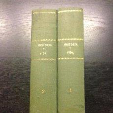 Coleccionismo de Revista Historia y Vida: HISTORIA Y VIDA, AÑO I, NUMERO I, ABRIL 1968 (2 TOMOS). Lote 131032552