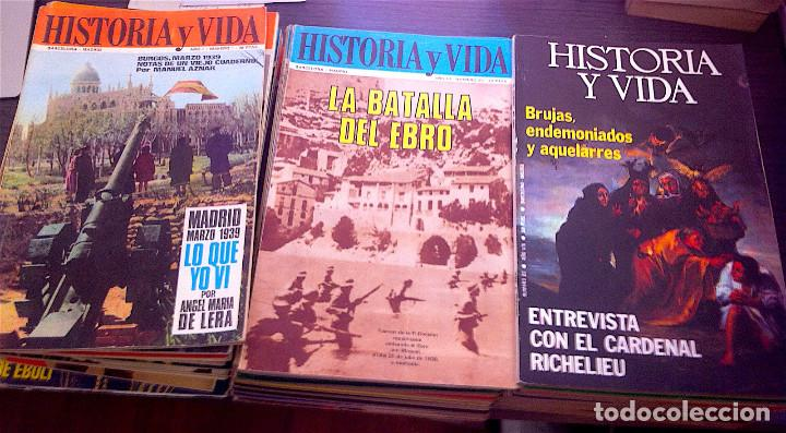 46 NÚMEROS, DE 1968 A 1976 (Coleccionismo - Revistas y Periódicos Modernos (a partir de 1.940) - Revista Historia y Vida)