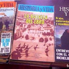 Coleccionismo de Revista Historia y Vida: 46 NÚMEROS, DE 1968 A 1976. Lote 132648778