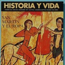 Colecionismo da Revista Historia y Vida: HISTORIA Y VIDA. Nº 356 - AÑO XXX - NOVIEMBRE 1997. SAN MARTIN Y EUROPA. Lote 137550858