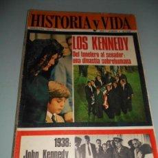 Coleccionismo de Revista Historia y Vida: 1938: JOHN KENNEDY EN ESPAÑA - LOS KENNEDY DEL TONELERO AL SENADOR UNA DINASTIA SOREHUMANA. Lote 140026014