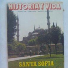 Coleccionismo de Revista Historia y Vida: HISTORIA Y VIDA , Nº 218, 1986: SANTA SOFIA, SUVOROV, REVOLVERES DEL EJERCITO ESPAÑOL, AMPURDAN, ETC. Lote 142816754