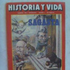 Coleccionismo de Revista Historia y Vida: HISTORIA Y VIDA , Nº 203, 1985: SAGASTA, LAS SS CONTRA STALIN, INICIOS DE LA AVIACION, NO PASARAN. Lote 142947074