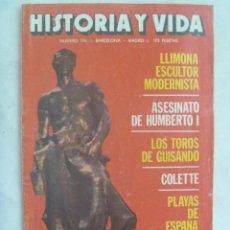 Coleccionismo de Revista Historia y Vida: HISTORIA Y VIDA , Nº 196, 1984: LLIMONA, ASESINATO DE HUMBERTO I, ETC. Lote 142999542