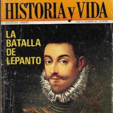Coleccionismo de Revista Historia y Vida: HISTORIA Y VIDA Nº 41. Lote 143303530