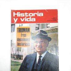 Coleccionismo de Revista Historia y Vida: HISTORIA Y VIDA NUMERO Nº 59. AÑO VI. TRUMAN TRES DECISIONES HISTORICAS. TDKR34. Lote 145111666