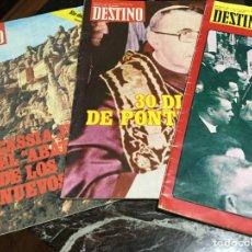 Coleccionismo de Revista Historia y Vida: REVISTAS DESTINO 1976/78/79. Lote 147094236