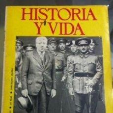 Coleccionismo de Revista Historia y Vida: HISTORIA Y VIDA 16 80 NOVIEMRE 1984 EL EJERCITO ESPAÑOL Y LA SEGUNDA REPLUCICA. Lote 148602578