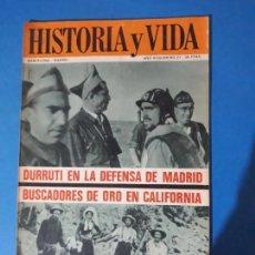 Coleccionismo de Revista Historia y Vida: REVISTA HISTORIA Y VIDA AÑO AÑO III Nº 31. DURRUTI EN LA DEFENSA DE MADRID. Lote 150466630
