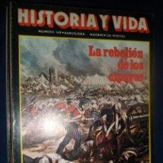 Coleccionismo de Revista Historia y Vida: REVISTA HISTORIA Y VIDA - AÑO XV Nº 168 LA REBELIÓN DE LOS CIPAYOS. LOS DERECHOS HUMANOS. Lote 156640370