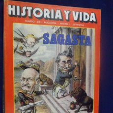 Coleccionismo de Revista Historia y Vida: REVISTA HISTORIA Y VIDA - AÑO XVIII Nº 203 SAGASTA - MARÍA DE MOLINA- HAENDEL - LAS SS CONTRA STALIN. Lote 156641110