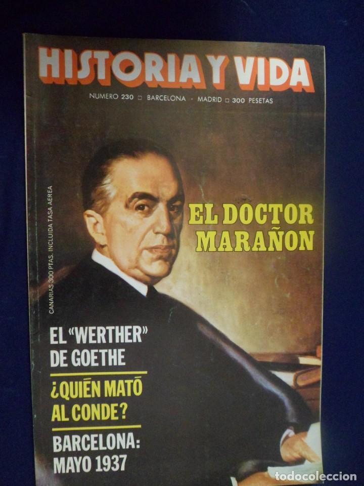 REVISTA HISTORIA Y VIDA - AÑO XX Nº 230 EL DOCTOR MARAÑÓN - BARCELONA: MAYO 1937 (Coleccionismo - Revistas y Periódicos Modernos (a partir de 1.940) - Revista Historia y Vida)