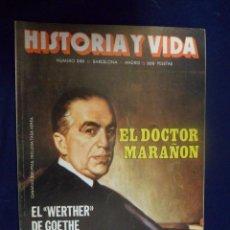 Coleccionismo de Revista Historia y Vida: REVISTA HISTORIA Y VIDA - AÑO XX Nº 230 EL DOCTOR MARAÑÓN - BARCELONA: MAYO 1937. Lote 156641250