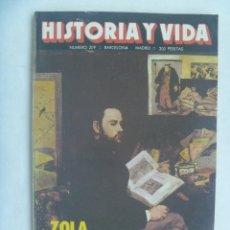 Coleccionismo de Revista Historia y Vida: HISTORIA Y VIDA , Nº 209, 1985: ZOLA, BALEARES Y NAVEGACION ANTIGUA, GUERRA PACIFICO , ETC.. Lote 156677390