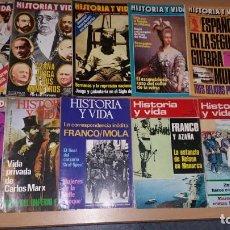 Coleccionismo de Revista Historia y Vida: 10 REVISTAS HISTORIA Y VIDA. Lote 161861130