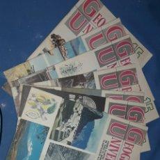 Coleccionismo de Revista Historia y Vida: LOTE 6 REVISTAS GOEGRFIA UNIVERSAL NUMEROS 16.17.18.19.20.22 Y 23 1968. Lote 163787736