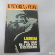 Coleccionismo de Revista Historia y Vida: REVISTA HISTORIA Y VIDA - AÑO III - Nº 28 LENIN TRES FECHAS EN LA VIDA DE UN REVOLUCIONARIO. Lote 172568914
