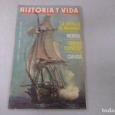 Coleccionismo de Revista Historia y Vida: REVISTA HISTORIA Y VIDA Nº 192 LA BATALLA DE MENORCA - MENDEL- ORIENT EXPRESS - CANADA. Lote 172572132