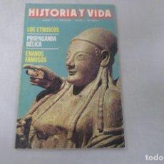 Coleccionismo de Revista Historia y Vida: REVISTA HISTORIA Y VIDA Nº 199 LOS ETRUSCOS - PROPAGANDA BÉLICA - ENANOS FAMOSOS. Lote 172572354