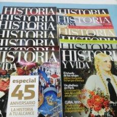 Coleccionismo de Revista Historia y Vida: LOTE DE 13 REVISTAS HISTORIA Y VIDA. . Lote 177770019