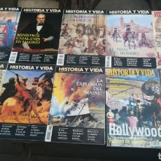 Coleccionismo de Revista Historia y Vida: REVISTAS HISTORIA Y VIDA NÚMEROS SUELTOS COLECCIÓN LOTE. Lote 180023763