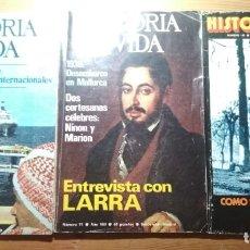Coleccionismo de Revista Historia y Vida: 11 VOLÚMENES DE LA REVISTA HISTORIA Y VIDA (CON ARTÍCULOS SOBRE GUERRA CIVIL). Lote 183336847