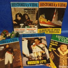 Coleccionismo de Revista Historia y Vida: LOTE DE REVISTAS DE HISTORIA. Lote 185736083