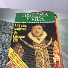 Coleccionismo de Revista Historia y Vida: 13 REVISTAS HISTORIA Y VIDA. Lote 191358592