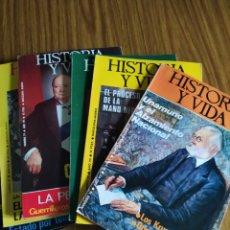 Coleccionismo de Revista Historia y Vida: HISTORIA Y VIDA. LOTE DE 7 NÚMEROS. 79 AL 82 INCLUSIVES. SUELTAS A 4,95 €.. Lote 195626935