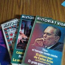 Coleccionismo de Revista Historia y Vida: HISTORIA Y VIDA, LOTE DE 5 NÚMEROS, 101 A 105 INCLUSIVES. SUELTAS 4,95 €.. Lote 195629447