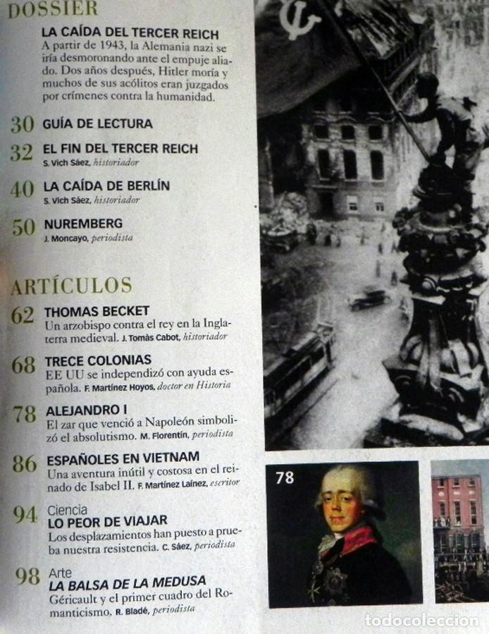 Coleccionismo de Revista Historia y Vida: REVISTA HISTORIA Y VIDA 470 LA CAÍDA DEL TERCER REICH ESPAÑOLES EN VIETNAM ZAR QUE VENCIÓ A NAPOLEÓN - Foto 2 - 200723917