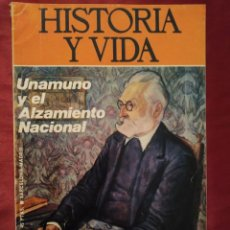 Coleccionismo de Revista Historia y Vida: REVISTA HISTORIA Y VIDA Nº 76 AÑO VII DE JULIO DE 1974. UNAMUNO Y EL ALZAMIENTO NACIONAL.. Lote 202909578