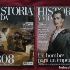 Coleccionismo de Revista Historia y Vida: REVISTA HISTORIA Y VIDA LOTE 2 NÚMEROS 478 Y 480 AÑO XXXIX. Lote 203617312