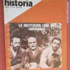 Coleccionismo de Revista Historia y Vida: HISTORIA REVISTA Nº 49 MAYO -1980, LA INSTITUCION LIBRE DE ENSEÑANZA , EL NACIMIENTO DE LA ALQUIMIA. Lote 205033968