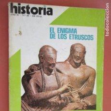 Coleccionismo de Revista Historia y Vida: HISTORIA REVISTA Nº 40 - 08-1979 - EL ENIGMA DE LOS ETRUSCOS - FRANCO INEDITO , PORQUE NOS SUBLEVAMO. Lote 205035338