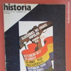 Coleccionismo de Revista Historia y Vida: HISTORIA REVISTA Nº 10 FEBRERO 1977 - SABINO ARANA Y LOS SOCIALISTAS , LA PINTURA RUPESTRE. Lote 205036158