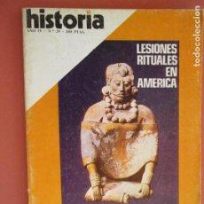 Coleccionismo de Revista Historia y Vida: HISTORIA REVISTA Nº 39 - JULIO 1979 - LESIONES RITUALES EN AMERICA , SEMANA TRAGICA , PABLO IGLESIAS. Lote 205039427