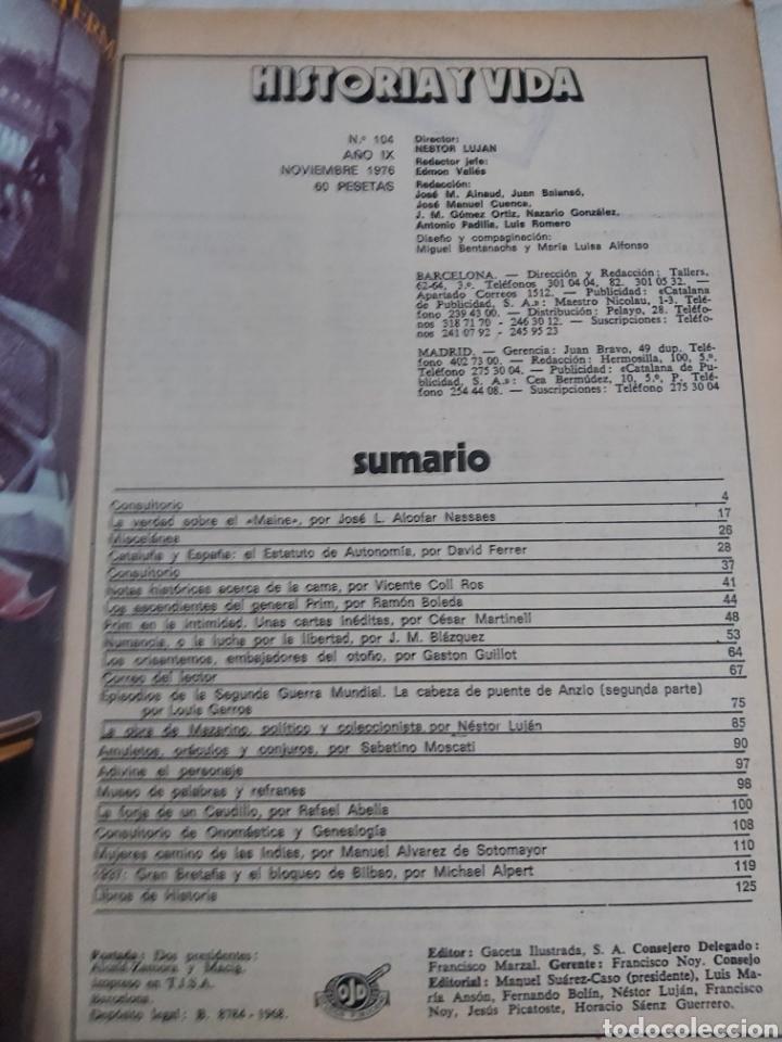 Coleccionismo de Revista Historia y Vida: REVISTA HISTORIA Y VIDA número 104. 1976. - Foto 2 - 214198060