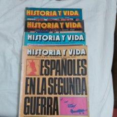 Coleccionismo de Revista Historia y Vida: REVISTA HISTORIA Y VIDA NÚMEROS 106, 107, 110 Y 113 . 1977.. Lote 214198397