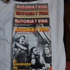 Coleccionismo de Revista Historia y Vida: REVISTA HISTORIA Y VIDA NÚMERO 121, 126, 127 Y 128. 1978.. Lote 214198662