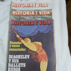 Coleccionismo de Revista Historia y Vida: REVISTA HISTORIA Y VIDA NÚMERO 134, 130 Y 139. 1979.. Lote 214198877
