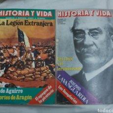 Coleccionismo de Revista Historia y Vida: REVISTA HISTORIA Y VIDA NÚMERO 155 Y 156. 1981.. Lote 214199127