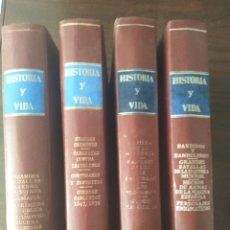 Coleccionismo de Revista Historia y Vida: LOTE 4 GRAN LIBROS DE HISTORIA Y VIDA EXTRA. Lote 214408490