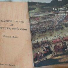 Coleccionismo de Revista Historia y Vida: (2X1)LIBROS LA BATALLA DE ALMANSA(25 DE ABRIL DE 1707)+EL DIARIO(1700-1715) JOSE VICENT ORTI I MAYOR. Lote 214104916