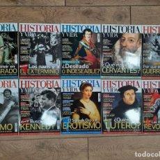 Coleccionismo de Revista Historia y Vida: LOTE 10 REVISTAS HISTORIA Y VIDA - NUEVAS A ESTRENAR. Lote 220753665