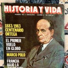 Coleccionismo de Revista Historia y Vida: REVISTA HISTORIA Y VIDA NÚMERO 183. Lote 221393765
