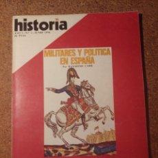 Coleccionismo de Revista Historia y Vida: HISTORIA Y VIDA MILITARES Y POLÍTICA EN ESPAÑA DEL AÑO I Nº 6. Lote 222970685