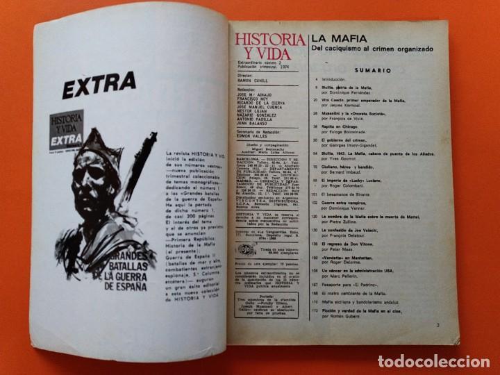 Coleccionismo de Revista Historia y Vida: HISTORIA Y VIDA EXTRA Nº 2 - LOS VERDADEROS PADRINOS, LA MAFIA - 1974...L2463 - Foto 2 - 223198680
